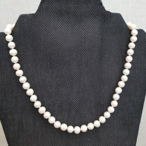 Jewelry - REAL - 9mm Classic Pearl Necklace